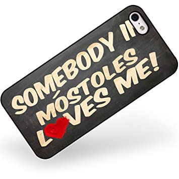 Amazon.com: Rubber Case for iphone 5 5s Somebody in Móstoles ...