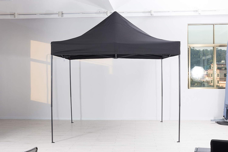 ElGiga by Mandalika - Cenador Plegable XL 3 x 3 m, Aluminio, Antracita/Techo Oxford, Color Gris: Amazon.es: Jardín