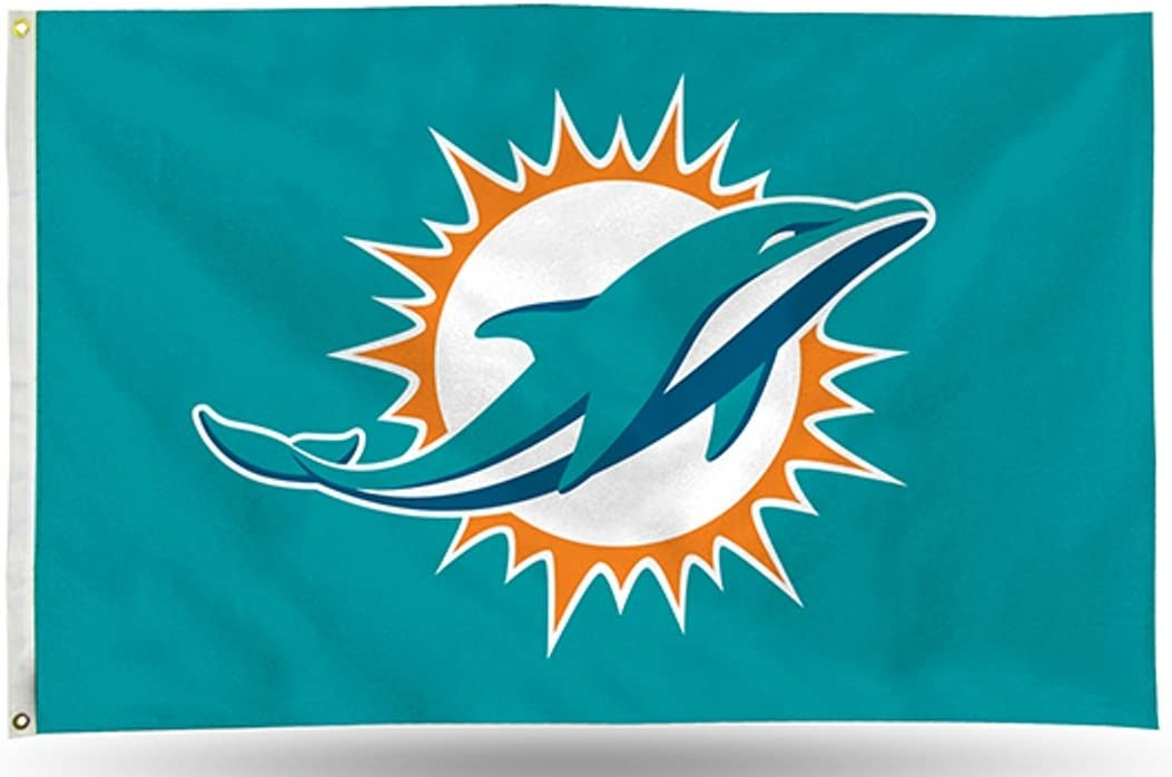 Rico Miami Dolphins Logo Only 3x5 Flag w/Grommets Outdoor House Banner Football