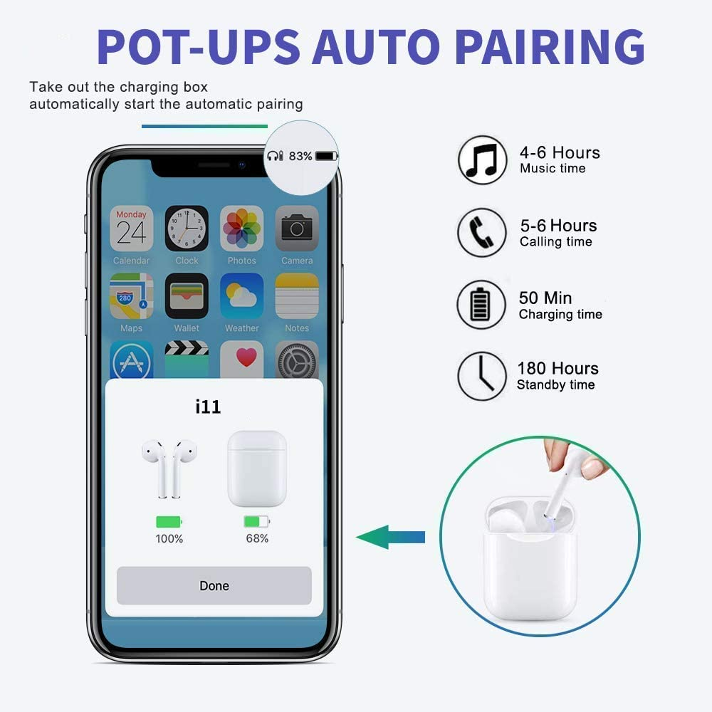 fr Apple Airpod Android iPhone IPX5 Wasserdicht in Ear Bluetooth ...