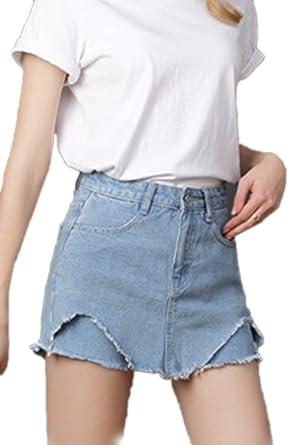 cc95cdb82 Suvotimo Women Summer Casaul High Waist Denim Shorts Jeans Plus Size Blue S