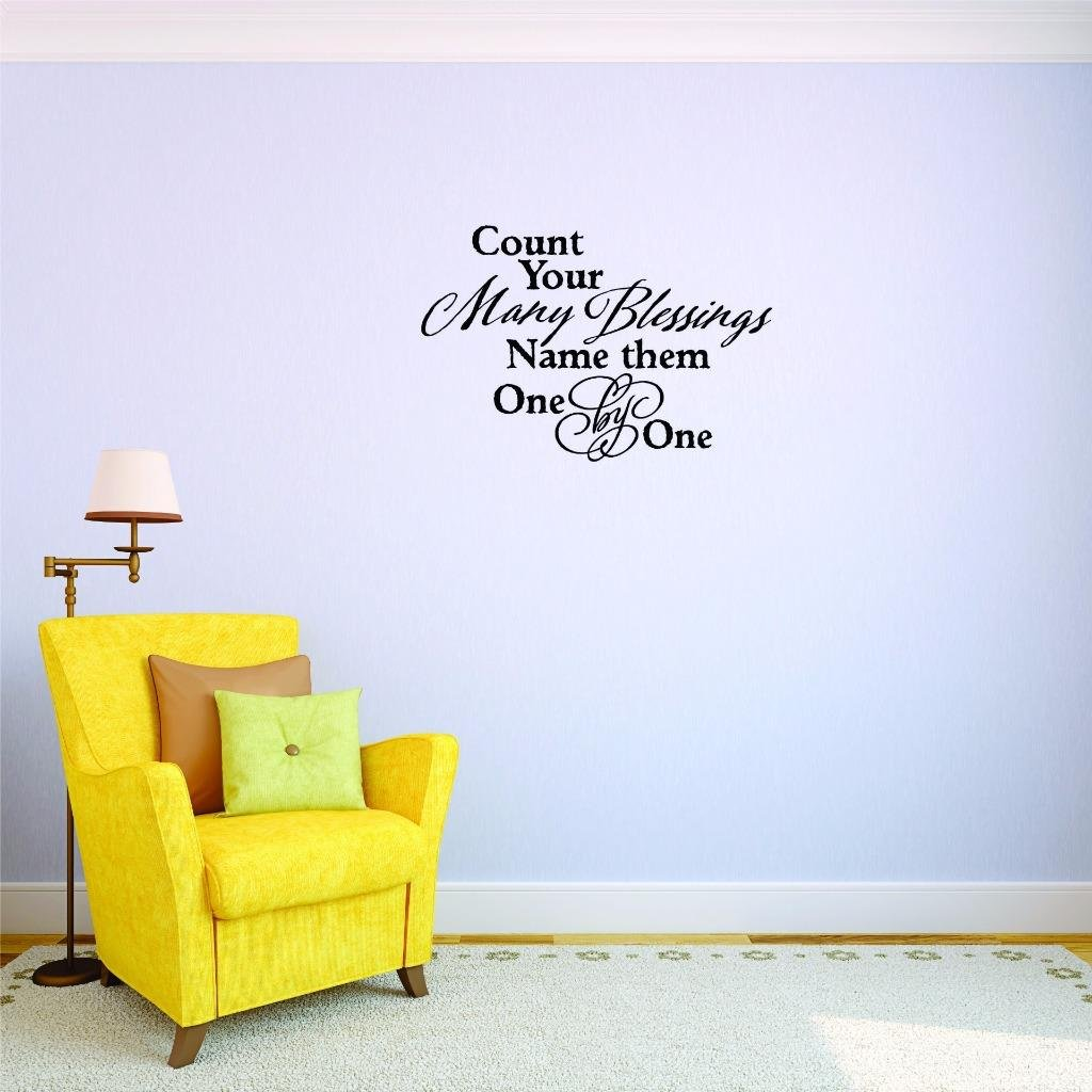 20 x 30 20 Inches X 30 Inches Color Design with Vinyl US V JER 3182 3 Top Selling Decals Count Your Many Blessings Name One Wall Art Size Black