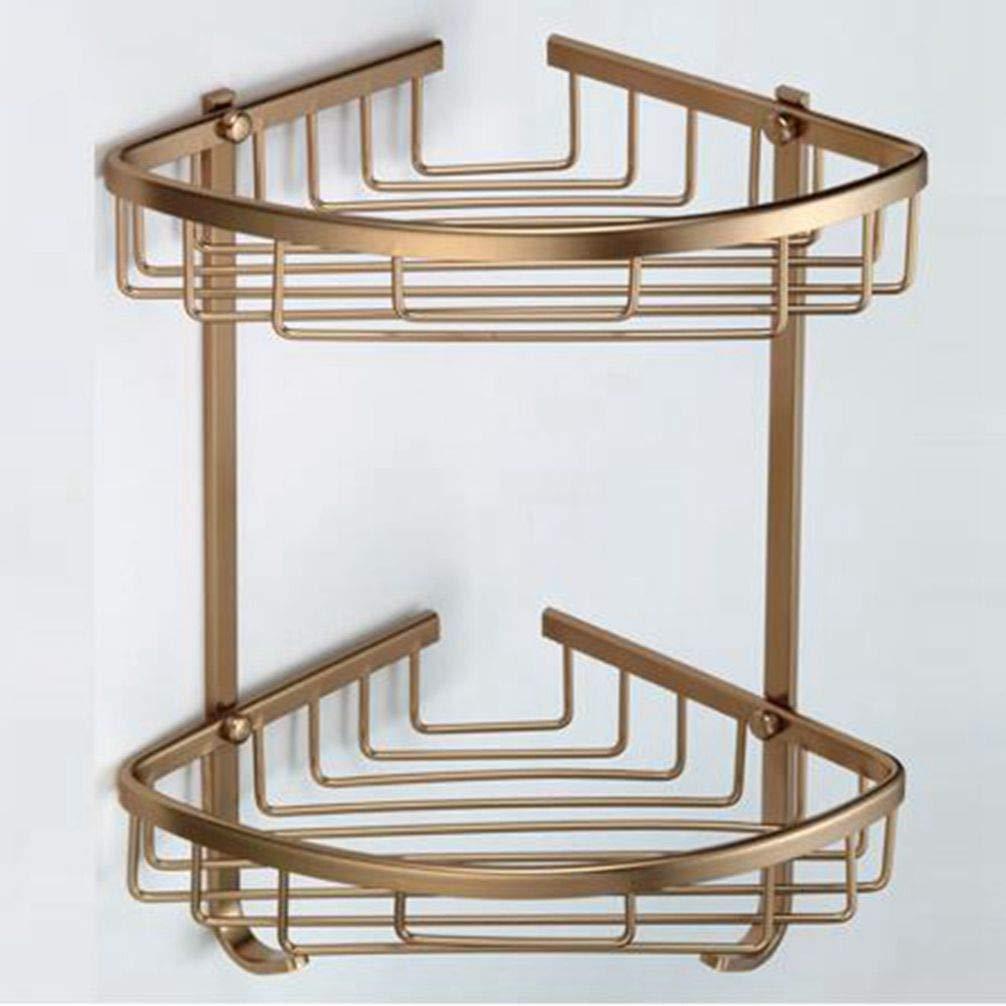 LUDSUY Vasca Ad Angolo Mensola Antico Bagno Doccia Shampoo Mensola Holder Scaffali Mensola Rack Bagno Accessori Basket Holderbathroom