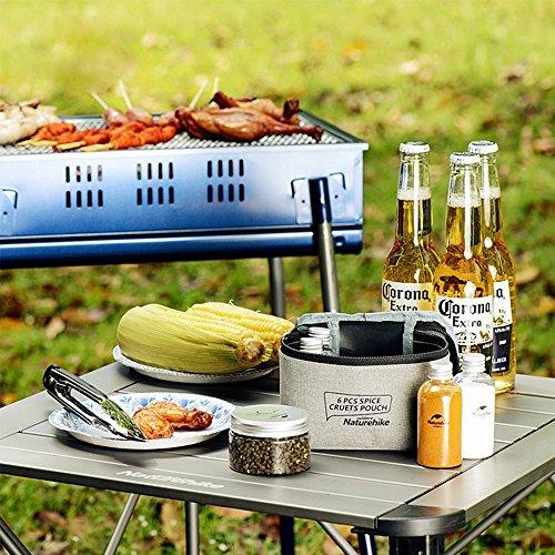 Naturehike Outdoor Cottura Ingranaggio Olio Dispenser Set Bottiglia Barbecue Equipment Salsa Cruet Set di 6 Dispensing Portable Bottiglia di Olio Vaso per Camping BBQ