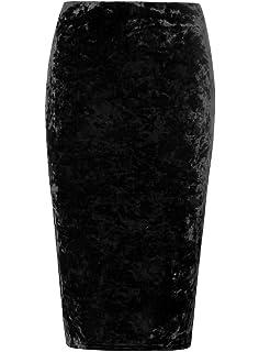 31b9f23a37f The Home of Fashion UK ® Plus Size Black Gothic Crushed Velvet Midi Pencil  Skirt