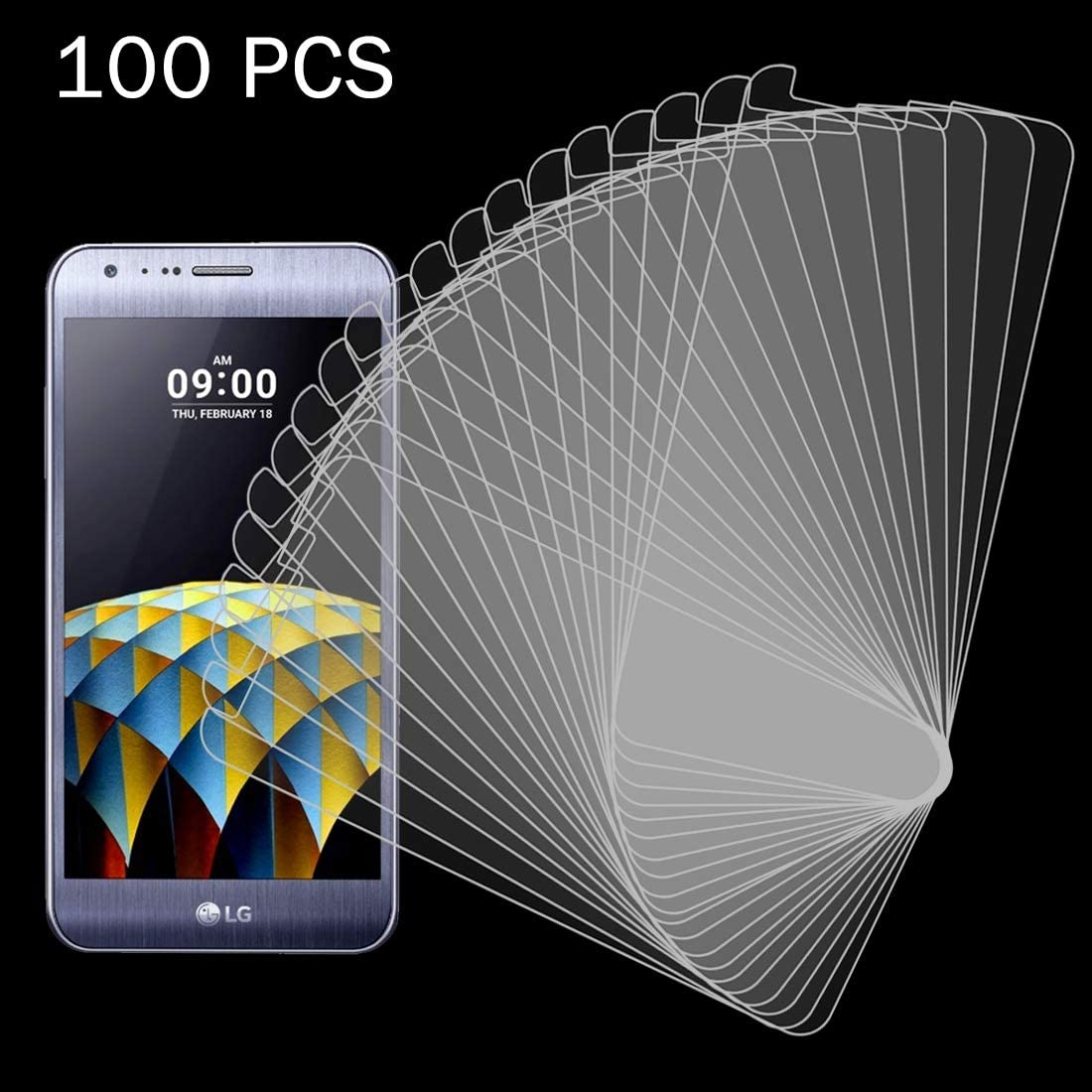 iPartsBuy Screen Tempered Protective Film 100 PCS for LG X Cam 0.26mm 9H Surface Hardness 2.5D Explosion-Proof Tempered Glass Screen Film