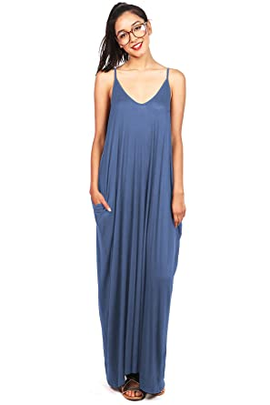 459f50a45eb Image Unavailable. Image not available for. Color  Pink Ice Women s Trendy  Harem Cut Maxi Dress ...