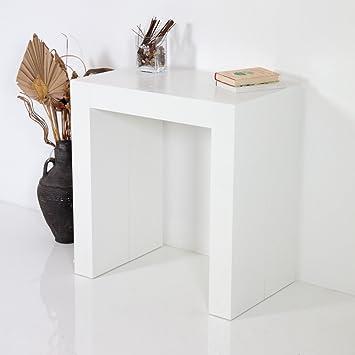 Tavolo Consolle Allungabile Moderna Inside Bianco Poro Aperto ...