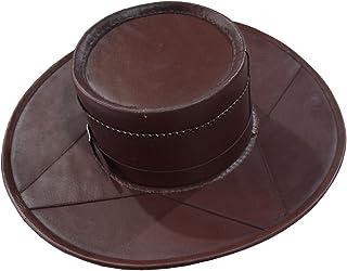 NASIR ALI Head N HOME Cuir Marron fait main style cuir véritable Chapeau