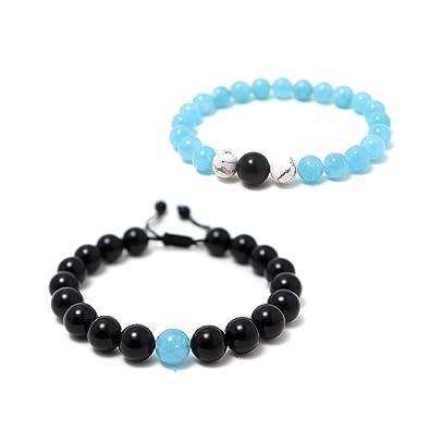 attrayant et durable recherche de véritables dernière vente Couple Cristal Bracelet réglable