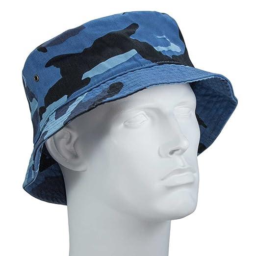 0d8b7443ecd Bandana.com Blue Camo Bucket Hat - Single Piece - SM