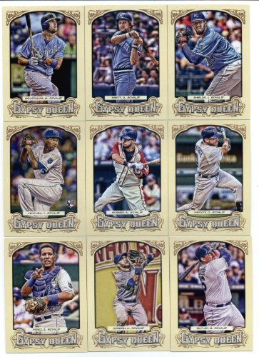 2014 Topps Gypsy Queen Baseball Cards Team Set (IN 4 POCKET NOTEBOOK): Kansas City Royals (9 Cards)