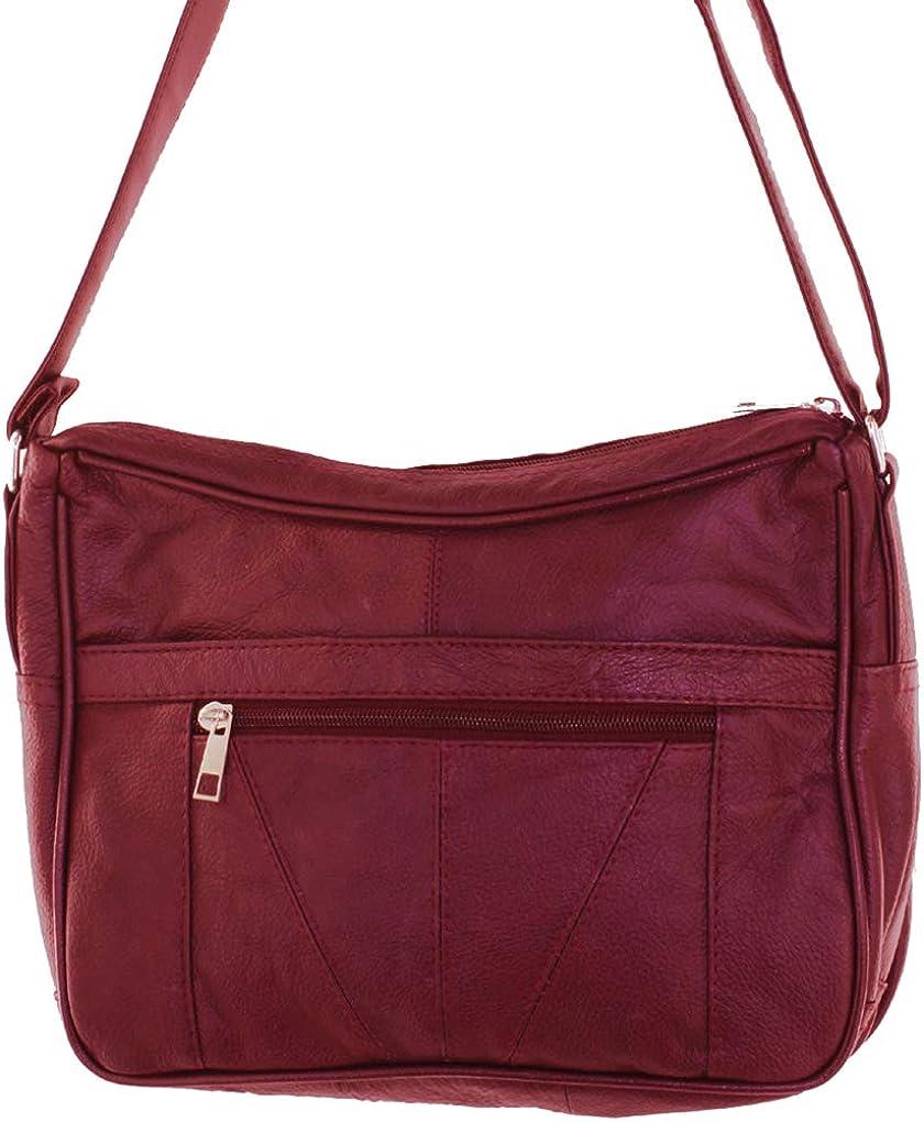 Soft Genuine Leather Silver Fever/® Medium Handbag Ladies Shoulder Daily Organizer