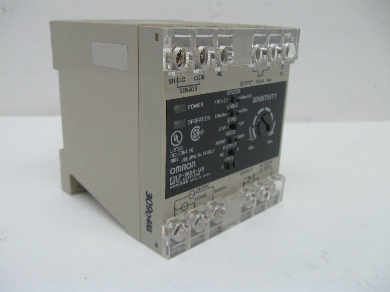 Omron F2LP-WK4-US Amplifier 100/200vac T14879: Mechanical Component Equipment Cases: Amazon.com: Industrial & Scientific