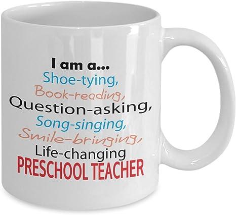 Amazon Com Mug For Preschool Teacher Life Changing Preschool Teacher Mug Kitchen Dining