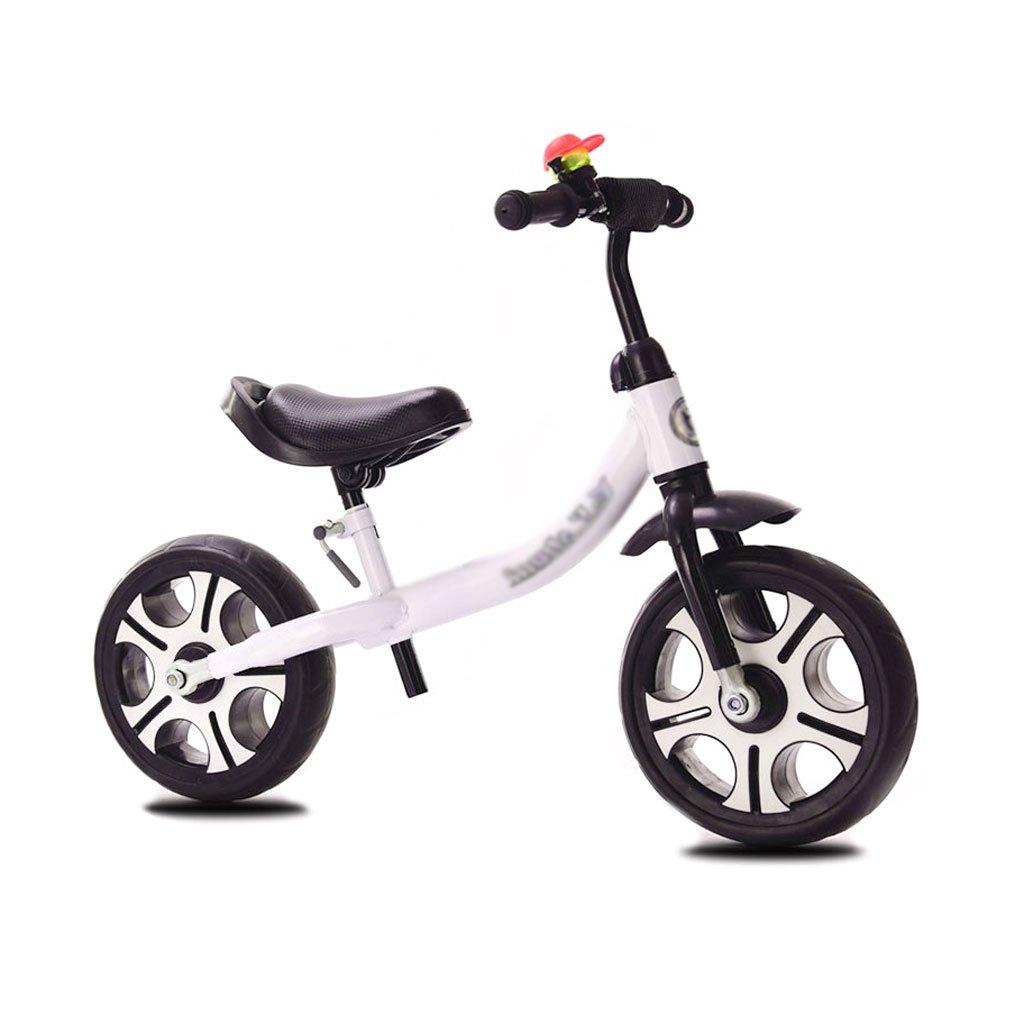 ベビースクーター子供スクーターペダルなしバギー子供ダブルホイール自転車子供スクーターベビースクーターなしペダルスクーター2ラウンドバランスカー2-8歳 B01LWUR7TB 白 白