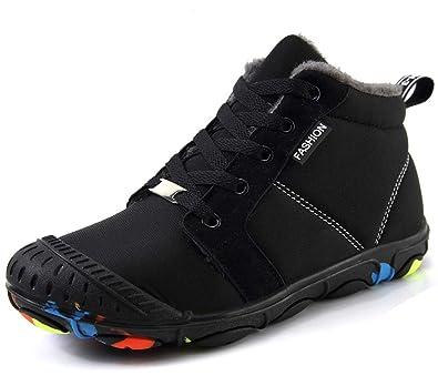 Enfant Garçon Bottes de Neige Fille Boots d hiver Fourrure Chaudes Bottines  Outdoor Imperméables Antidérapant 78b3202fd7eb