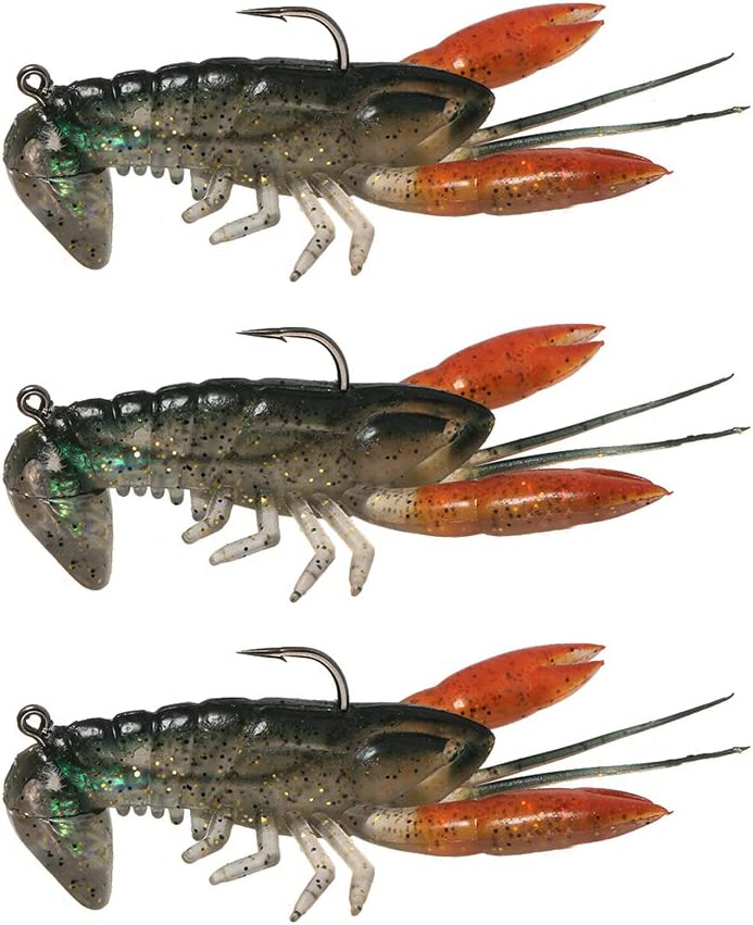 14g Soft Crawfish Shrimp Lobster Claw Bait Artificial Lure Bait Swimbait Lixada Soft Shrimp Fishing Lures,8cm