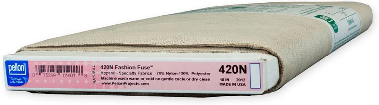 Color Charcoal. Pellon 911FF Fusible Featherweight Interfacing 20in x 10 Yard Bolt