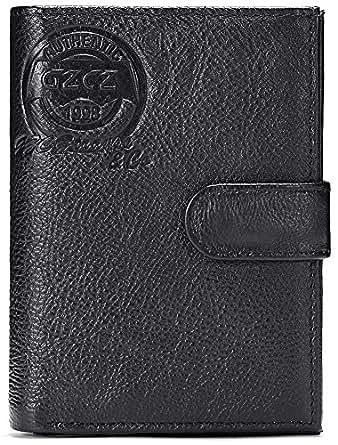 b5d8cec916ee Amazon.com: GZCZ Passport Holder Cover Wallet Leather Card Case ...