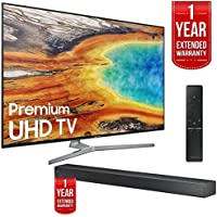 Samsung UN55MU9000 55-Inch 4K UHD Smart LED TV with HW-MS750 Soundbar and 1 Year Extended Warranty Bundle