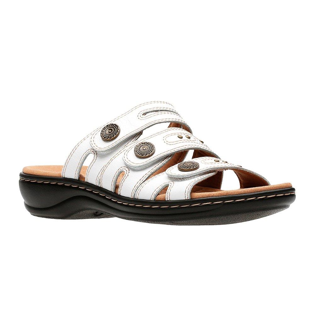 CLARKS Leisa Lakia Women's Sandal B078QCS71P 9.5 C/D US|White
