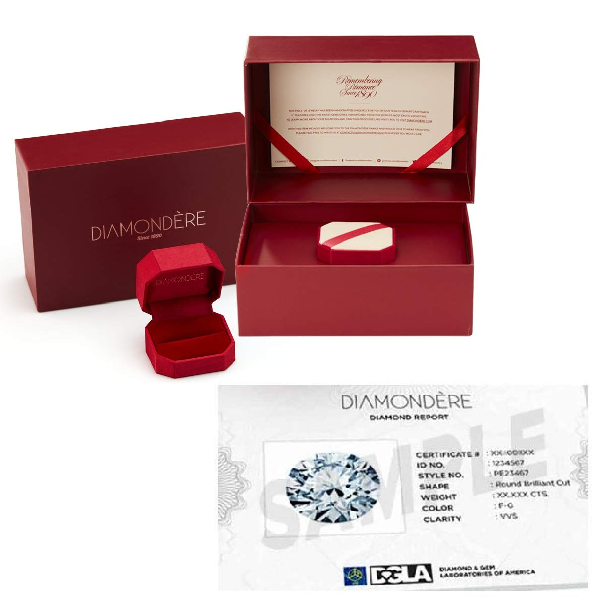Diamondere Natural and Certified Diamond Wedding Ring in 14K White Gold | 0.79 Carat Full Eternity Stackable Band for Women, US Size 5.5 by Diamondere (Image #4)