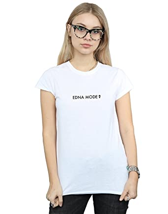 559ce6778 Amazon.com: Disney Women's The Incredibles 2 Edna Mode T-Shirt: Clothing