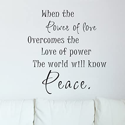 Amazoncom Power Of Love Wall Quotes Inspirational Vinyl Decal