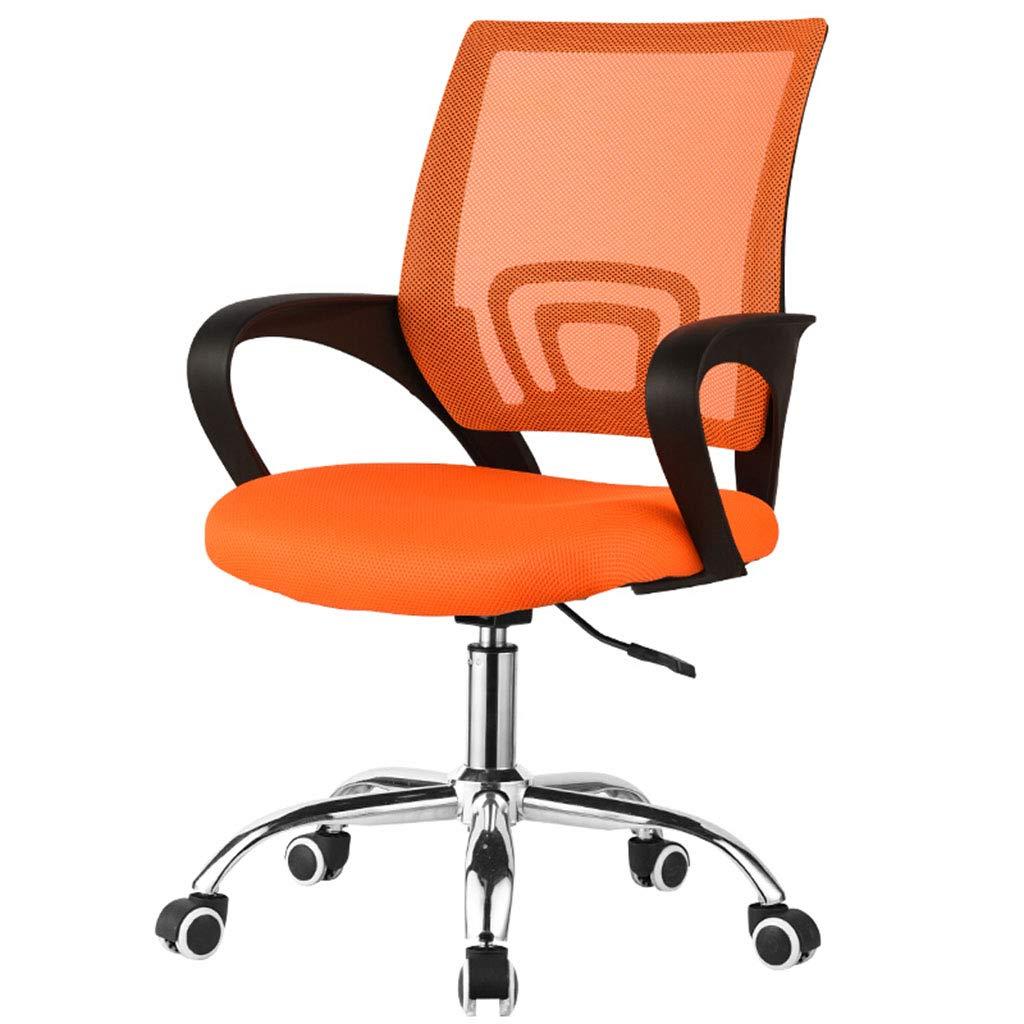FXJ Silla giratoria de Oficina - Negro - Suave y cómoda - Trípode de Metal con Ruedas - Gaming-Negro Naranja Verde Opcional (Color : Orange): Amazon.es: ...