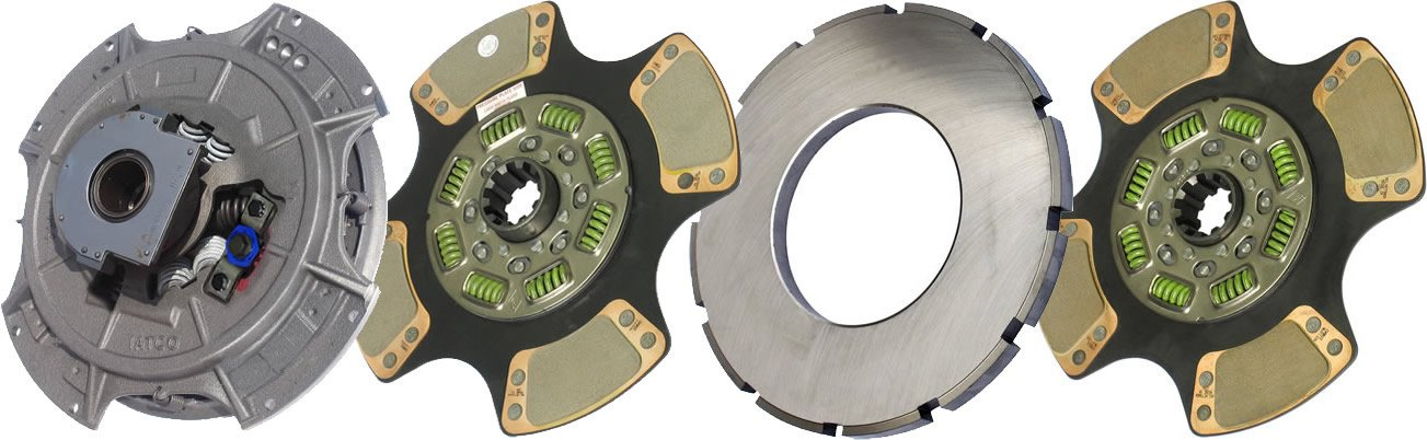 IATCO 108063-59-IAT 14'' x 1-3/4'' Easy Pedal Clutch (Two-Plate, 4-Paddle / 8-Spring, 3200 Plate Load / 1150 Torque, Super-Duty)
