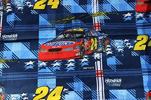1 Yard - Jeff Gordon #24 NASCAR Flannel Fabric - Officially Licensed (Great for Quilting, Sewing, Craft Projects, Throw Pillows & More) 1 Yard x 44