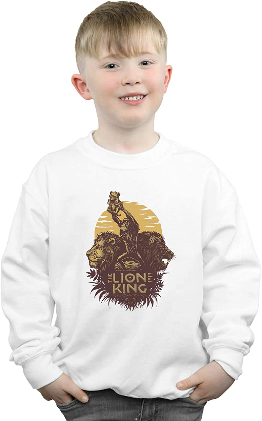 Disney Boys The Lion King Movie Sunrise Collage Sweatshirt
