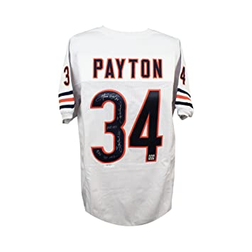 4a1bd92895f Image Unavailable. Image not available for. Color: Walter Payton  Autographed Chicago Bears Custom White Football Jersey ...