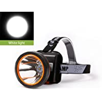Superbright LED Headlamp Water Resistant Head Torch Built-in 3x18650 Rechargeable Batteries 2 Light Modes Headlight for Outdoor