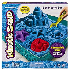 Kinetic Sand - Sandcastle Set (Colors Vary) - 61s1dv02CyL - Kinetic Sand – Sandcastle Set with 1lb of Kinetic Sand and Tools and Molds (Color May Vary)