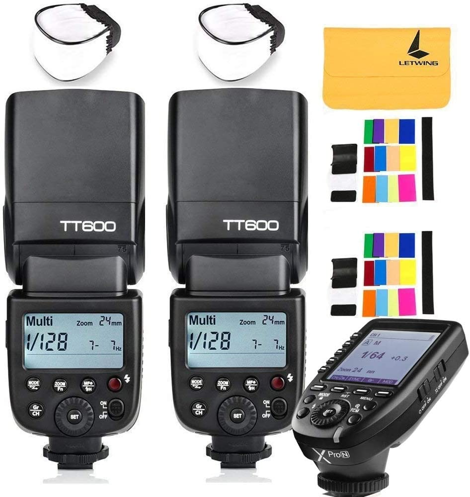 GODOX TT600 2.4G Wireless 3X Camera Flash Speedlite,GODOX XPro-N Flash Trigger Compatible with Nikon Camera