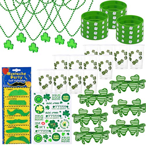 GIGALUMI 95 Pcs St. Patrick's Day Party Favor Accessories for Festivals,Parades,and Irish Themed Party Decoration.