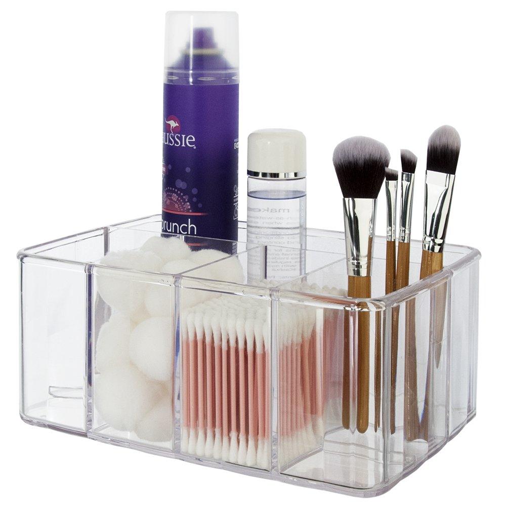 Premium Quality Clear Plastic Vanity Organizer   5 Compartments