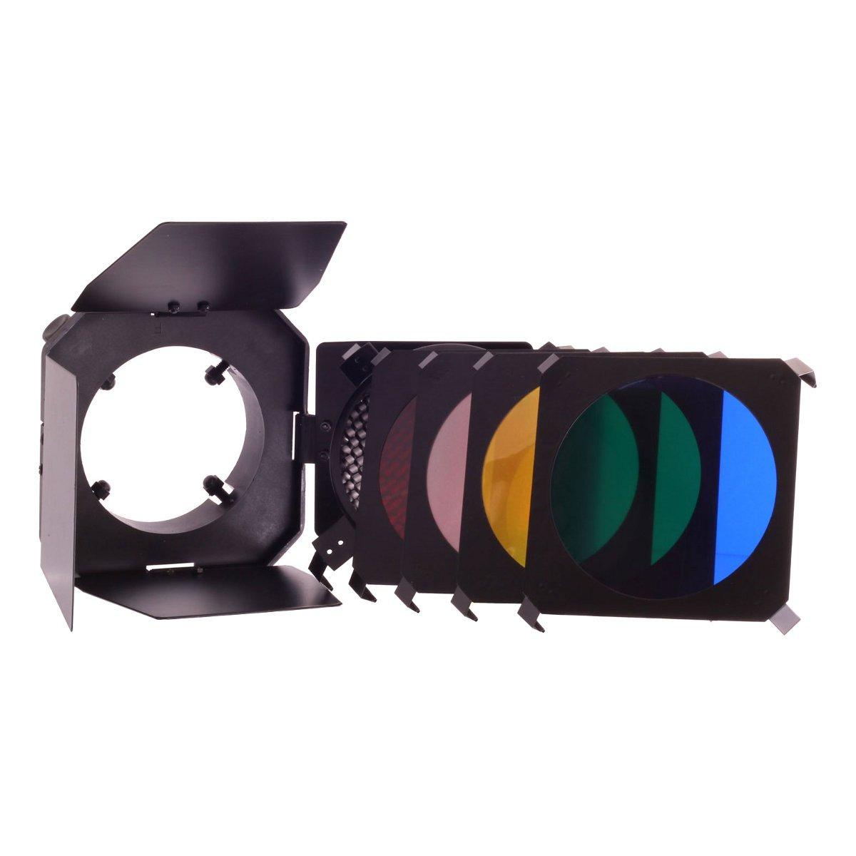 Dorr SLBL Barn Door Kit Honeycomb and 4 Colour Filter Set [371826]