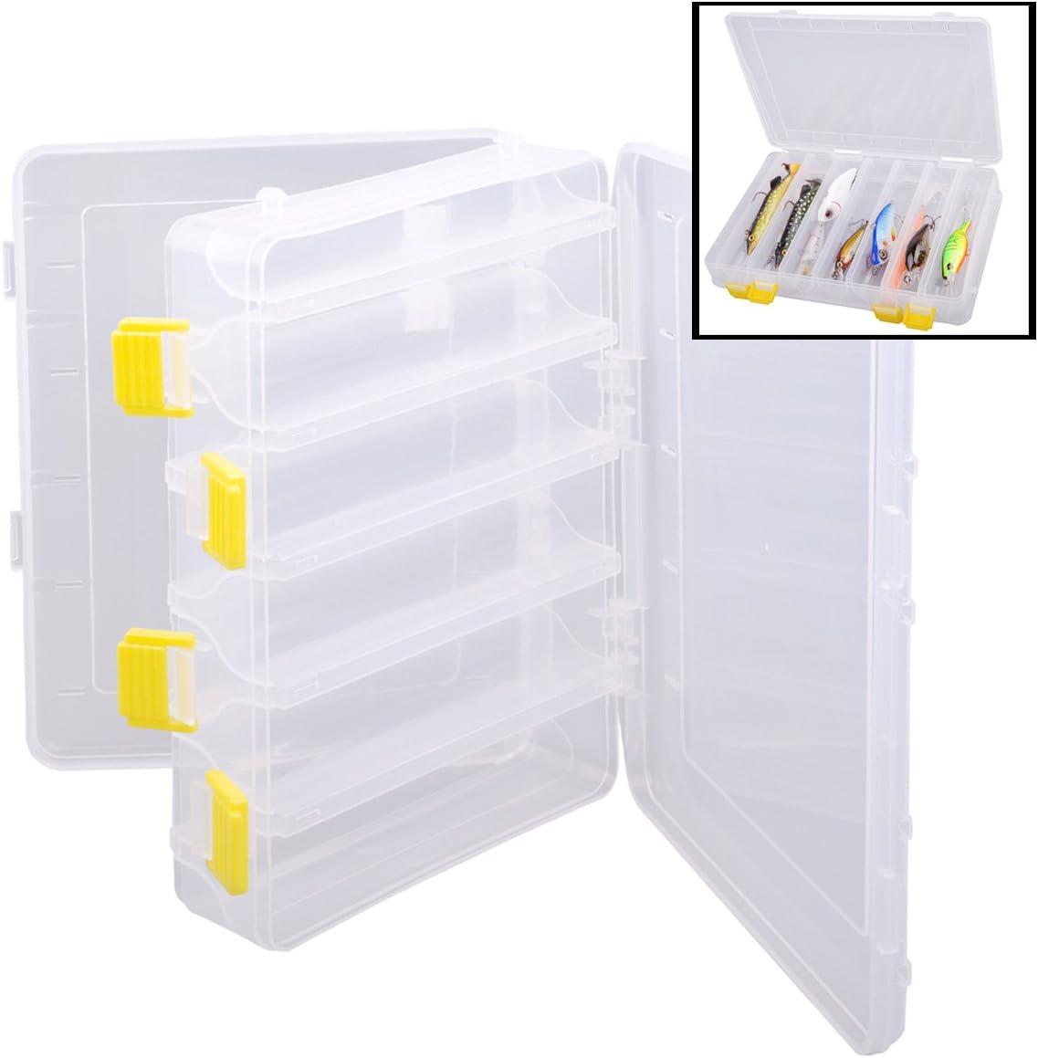 2 Fächer Angelköder Regenwurm Wurmköder Tackle Box Aufbewahrungskoffer 3Siz PXUI