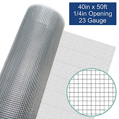 (40in x 50ft Hardware Cloth - Welded Galvanized Wire Mesh (23 Gauge) )