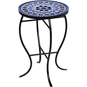cobalt mosaic black iron outdoor accent table - Outdoor Accent Tables
