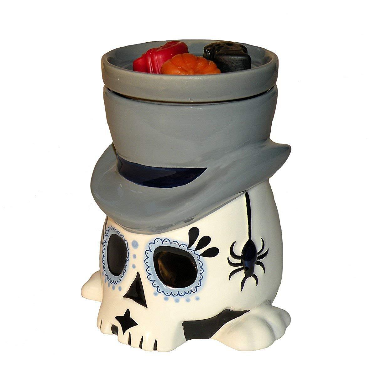 Day of the Dead (Día de los Muertos) Sugar Skull Undertaker - Horror Style Wax Warmer by HalloweenForevermore.com
