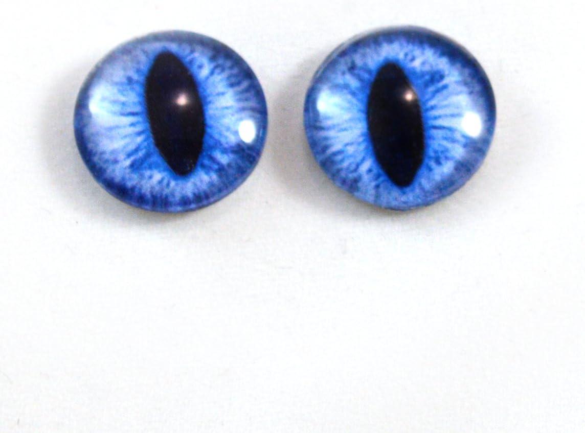 Glass Doll Eyes 16mm Blue Siamese Cat Realistic Animal Eye Jewelry Taxidermy Art