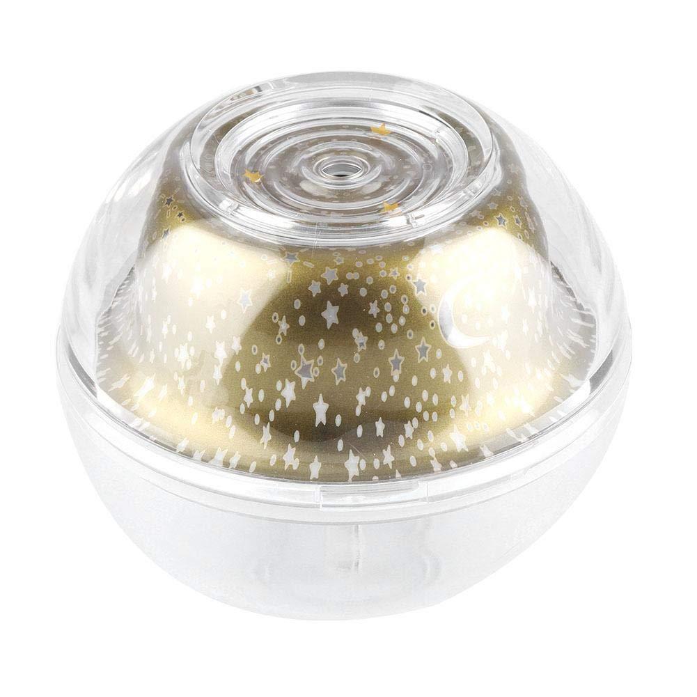 Mini lumière ultrasonique rechargeable de projection de diffuseur d'humidificateur rechargeable d'USB(argent) FTVOGUE