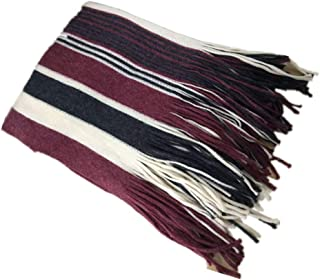 Chunlan Scarf Scarf Men's Winter Plaid Scarf Comfortable to Keep Warm 220 * 70cm (Color : Wine Red)
