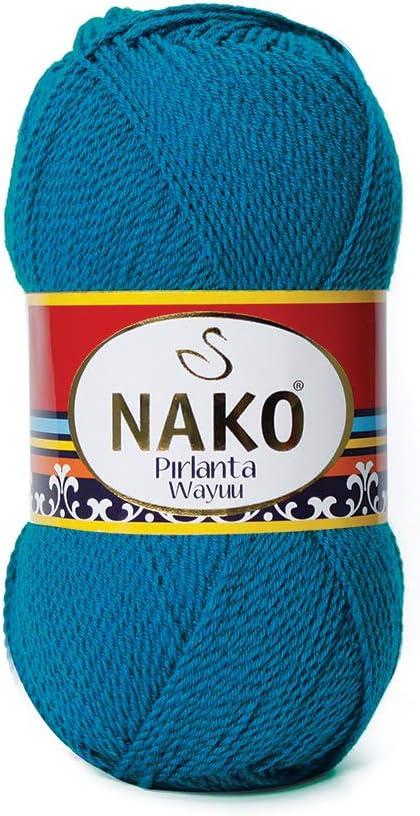 Hobby Mix NAKO de Lana Ovillo para Tejer algodón Hilo Ganchillo ...