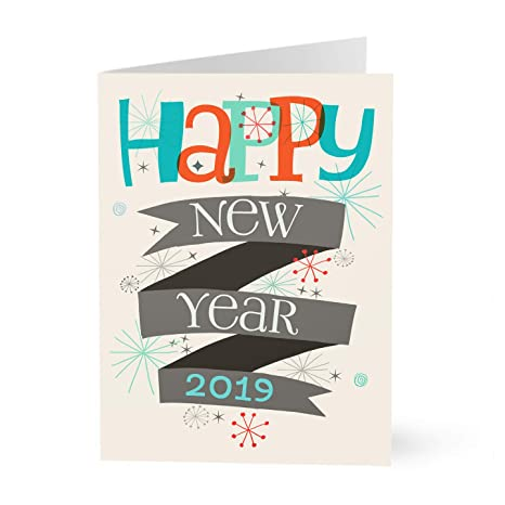 hallmark business new year card retro stars 2019 new year business holiday card