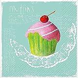 Stewo Papier bedruckt, 3-lagig Serviette, Mafalda Cupcake Design